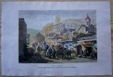 1881 Reclus print TIFLIS TBILISI, GEORGIA, CAUCASUS (#22)
