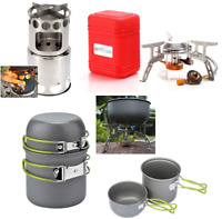 Portable Stainless Steel Lightweight Gas/Wood Stove Alcohol Stove Outdoor EsIkP