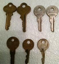 7 Vintage Keys - Hurd - Lockwood Hardware - Taylor - Dexter.