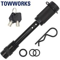 """TowWorks 5/8"""" Trailer Hitch Locking Pin with Double Safety and Anti-Rattle 79631"""