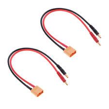 2pcs RC lipo Battery Charge Cable xt90 to 4.0 Banana Plug Charge Lead 12AWG