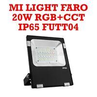 FARO SPOTLIGHT PROIETTORE 20W RGB+CCT IP65 MI-LIGHT FUTT04