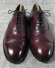 "$395 Allen Edmonds men's ""Park Avenue"" shoes Sz 9 D Oxblood Burgundy Oxfords"