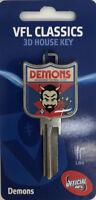 Melbourne Demons  VFL - Novelty Front Door House Key Blank - LW4 C4 - AFL