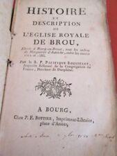 EDITION ORIGINALE.- 1767.- Histoire et description de l'eglise royale de Brou
