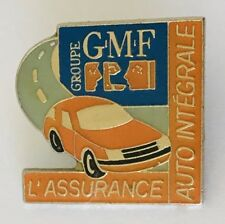 GMF Grouope L'assurance Auto Car Advertising Pin Badge Brooch Vintage (C4)
