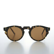 Indie Hipster Sunglasses with Keyhole Bridge Tortoise/Brown Lens - Tisch