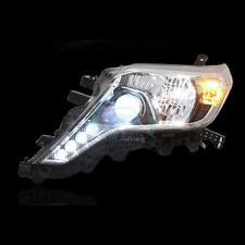 New LED Headlights Black Housing For Toyota Land Cruiser Prado FJ150 2014-2015