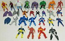 Toy Biz Heavy Metal Heros Lot 21 + capes Figures MARVEL X-MEN Avengers Die Cast