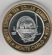 2000 Monte Carlo Millennium Jackpot Pale Ale .999 Fine Silver $10 Casino Token