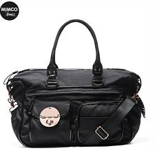 *Authentic* MIMCO LUCID BLACK 👶👶 BABY NAPPY BAG Nylon RoseGold *FREE POST*