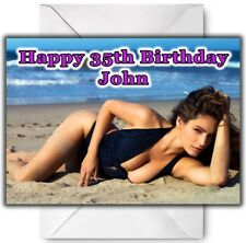 KELLY BROOKE Personalised Birthday / Christmas / Card - Large A5
