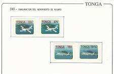 Tonga: 1983; Scott 541-544, air transportation, mint. TG157