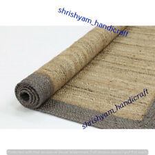 Rectangle Rug Indian Natural Jute Braided Floor Mat Handmade Reversible Yoga Mat