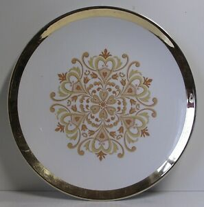 "ROYAL WINTON GRIMWADES PLATE Gold & White 10"" diameter Dinner VINTAGE"