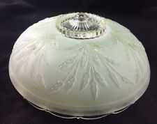 Vintage Art Deco / Nouveau Satin Glass Ceiling Light Chandelier Shade 2 of 3