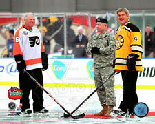 2010 Boston NHL Winter Classic Bobby Clark & Bobby Orr 8 X 10 Pregame Photo