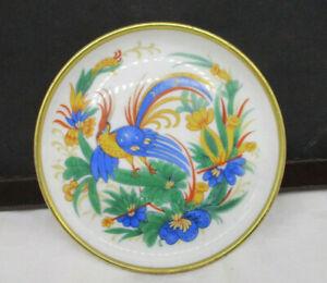 "Rosenthal Porzellan Schale Teller ""Tropen Vogel"" handgemalt - Goldrand ~ 1920/30"