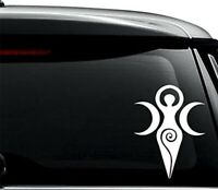 2Pcs Removable Goddess Wiccan Symbol vinyl Decal Sticker For Use On Laptop car