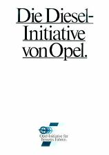 Opel Kadett Ascona Diesel Prospekt 3 82 brochure 1982 Auto PKWs Deutschland