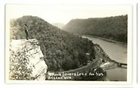 RPPC Lovers Leap Railroad River ANSTEAD WV West Virginia Real Photo Postcard
