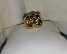 Ross Simons 18k Yellow Gold shiny puffy resin wide love chain wrap band ring