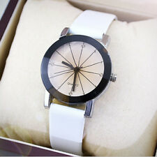 Men Women Couple Watches Vintage Quartz Analog PU Leather Wrist Watch Gift CN