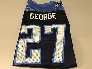 NWT MEN'S EDDIE GEORGE #27 RETRO TENNESSEE TITANS NAVY REEBOK XXL JERSEY