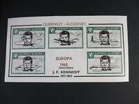Guernsey - Alderny Bogensatz Block Kennedy per 20