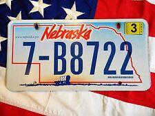 NEBRASKA license licence plate USA NUMBER AMERICAN REGISTRATION