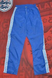 Vintage Adidas Mens Nylon Track Pants Size US  S Blue Very Rare Retro Sport