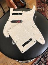 "Stratocaster  Pickguard SSS  set ""creme pearl ""   3 ply"