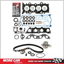 Head Gasket Set Timing Belt Kit Water Pump Fit 01-05 Honda Civic D17A1 1.7L L4