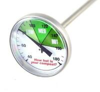 "Premium Compost or Soil Thermometer with 20"" Stainless Steel Stem"