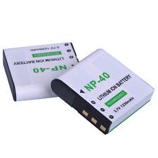 2 pack Battery for Casio NP-40 NP-40DCA NP-40DBA DLI-202 BENQ E610 E520 CANP-40