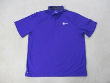 Nike Miami Hurricanes Polo Shirt Adult Extra Large Purple Orange Bowl Football