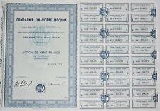 Action - Compagnie Financière MOCUPIA, action de 100 Frs N° 008231