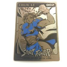 SDCC 2015 Udon Exclusive AKIMAN SIGNED CHUN LI METAL STREET FIGHTER CARD SER 1
