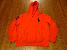 Men's Polo Ralph Lauren Big Pony Red Navy Pullover Hoodie sz XL