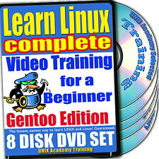 Learn Linux Complete 8-DVD Video Training Gentoo Set