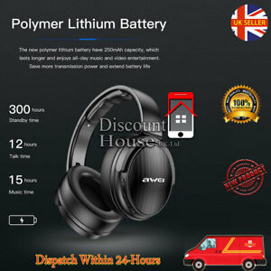 Awei A780BL Wireless Bluetooth 5.0 Headphones with Hi-Fi Stereo Foldable Design
