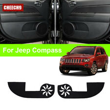 For Jeep Compass Car Inside Door Cover Scratch Protection Anti Kick Pads 4pcs