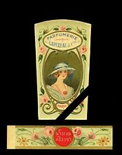 Vintage French Perfume Bottle Label: Early 1900's Cologne Lapereau & Co.