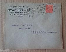 1 Enveloppe timbrée envoyée de Strasbourg 1930 Timbre 50 c rouge