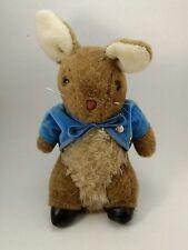 """Vtg Peter Rabbit Wind Up Musical Plush Eden Toys Frederick Warne 10.5"""" Tall"""