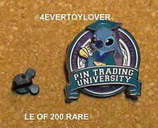 Disney Pin STITCH LE OF 200  TRADING UNIVERSITY GRADUATION 2008