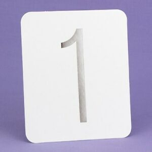 1-40 Silver Foil Wedding Table Numbers Number Cards