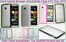 Hard Case Silikon Hybrid Bumper hart Cover HTC One M7 Schutz Hülle Etui Tasche *