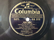 "78 rpm 10"" FRANKIE LAINE high noon / rock of gibraltar"