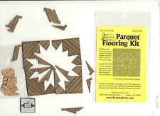 PQ108C Parquet Cherry Wood Flooring Kit  dollhouse 1/12 scale by Brodnax Prints